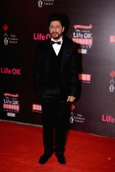Actor Shahrukh Khan during the 20th Annual Life OK Screen Awards in Mumbai, on January 14, 2014.
