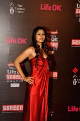 Actor Tanisha Mukherjee during the 20th Annual Life OK Screen Awards in Mumbai, on January 14, 2014.