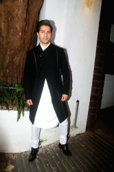 Actor Varun Dhawan attend a Diwali party hosted by actor Aamir Khan in Mumbai on Oct 19, 2017.