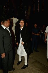 Actor Varun Dhawan during a Diwali party hosted by actor Anil Kapoor in Mumbai, on Oct 19, 2017.
