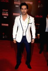 Actor Varun Dhawan during the 20th Annual Life OK Screen Awards in Mumbai, on January 14, 2014.