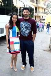 Actors Aditya Roy Kapur and Shraddha Kapoor during a press conference organised to promote their upcoming film