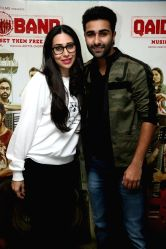 Actors Karisma Kapoor and Aadar Jain during the special screening of film