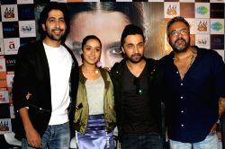 Actors Siddhanth Kapoor, Shraddha Kapoor, Ankur Bhatia along with director Apoorva Lakhia during a press conference to promote their upcoming film