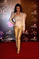 Actress Aashka Goradia during COLORS Golden Petal Awards 2013 in Mumbai on Dec.14, 2013.