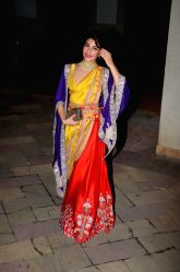 Actress Jacqueline Fernandez during Diwali Party hosted by Sanjay Dutt and Maanyata at their residence in Mumbai on Oct 18, 2017.