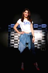Actress Jacqueline Fernandez during the launch of Brand Lee