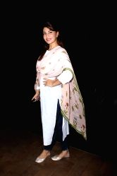 Actress Jacqueline Fernandez during the special screening of upcoming film