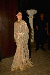 Actress Kareena Kapoor during a Diwali party hosted by actor Anil Kapoor in Mumbai, on Oct 19, 2017.