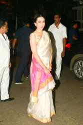 Actress Karisma Kapoor during a Diwali party hosted by actor Anil Kapoor in Mumbai, on Oct 19, 2017.