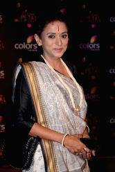 Actress Krutika Desai Khan during COLORS Golden Petal Awards 2013 in Mumbai on Dec.14, 2013.