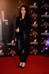 Actress Preity Zinta during COLORS Golden Petal Awards 2013 in Mumbai on Dec.14, 2013.