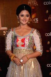 Actress Rashmi Desai during COLORS Golden Petal Awards 2013 in Mumbai on Dec.14, 2013.