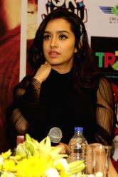 Actress Shraddha Kapoor during a press conference to promote his upcoming film