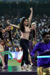 Actress Shraddha Kapoor performs during IPL 2017 opening ceremony at Eden Gardens in Kolkata on April 13, 2017.