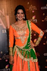 Actress Shweta Tiwari during COLORS Golden Petal Awards 2013 in Mumbai on Dec.14, 2013.