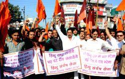 Amritsar: Hindu Sangharsh Sena demonstration