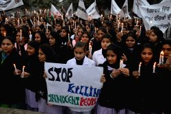 Amritsar: Candlelight vigil to condemn attack on Peshawar school