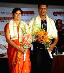Arjun awardees felicitatated by Bengal Warriors