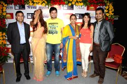 Arjun Singh Baran CEO GSEAMS, Siddharth Chandekar, Vaishali Samant, Manjari Phadnis and Kartik Nishandar Director GSEAMS during the announcement of first ever Indian Music Academy Marathi Music ...