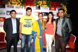 Arjun Singh Baran CEO GSEAMS, Siddharth Chandekar, Vaishali Samant, Manjari Phadnis and Kartik Nishandar Director GSEAMS during the announcement of first ever Indian Music Academy Marathi Music ...