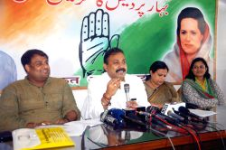 Bihar Congress chief Ashok Chaudhary during a press conference in Patna on July 3, 2015.
