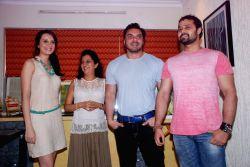 Bollywood stars Sohail Khan and Vaishali Desai were spotted at Nandita Desai`s art work auction, held at Juhu