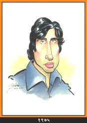 Caricature of  Amitabh Bachchan