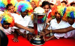 Chennai: ICC World Cup 2015 Trophy