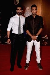 Choreographers of Jhalak Dikhhla Jaa, Tushar and Punit during COLORS Golden Petal Awards 2013 in Mumbai on Dec.14, 2013.