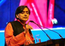 Congress leader Shashi Tharoor during International Conference 2017 on Dr. B R Ambedkar at Gandhi Krishi Vigyan Kendra (GKVK) campus in Bengaluru on July 21, 2017.