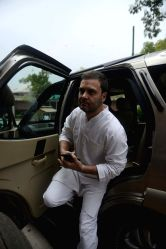Congress vice president Rahul Gandhi at Parliament in New Delhi, on July 25, 2016.