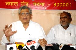 CPI-M GS Sitaram Yechury addresses a press conference in Patna, on Oct 7, 2015.