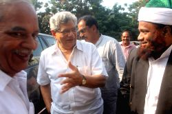 CPI-M leader Sitaram Yechury in Hyderabad on Oct 5, 2015.
