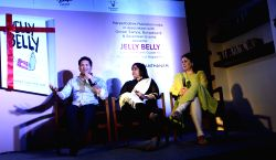 Cricket legend Sachin Tendulkar with his wife Anjali Tendulkar during the release of Apsara Santhanam`s book `Jelly Belly` in Mumbai, on Oct 28, 2015.