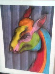 Depiction of Aniya - the mythical deer in Buddhist culture - by artist Kedar Kulkarni (Photo Credit: Kedar Kulkarni)