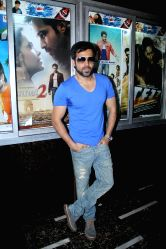 Emraan Hashmi and Esha Gupta promote `Jannat 2` at Gaiety Theater.
