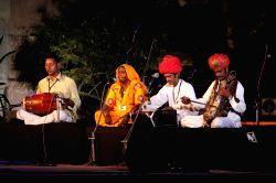 Folk exponent Jamali Bai of Bikaner singing traditional Maand log geet