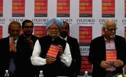 Former Prime Minister and renowned economist Dr. Manmohan Singh at the launch of book