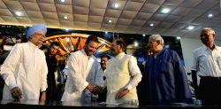 Former Prime Minister Manmohan Singh, Congress Vice President Rahul Gandhi, former JD(U) chief Sharad Yadav, CPI(M) general secretary Sitaram Yehchury and CPI national secretary D Raja ...