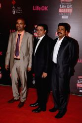 General Manager of Life OK, Mr. Ajit Thakur with Mr. Uday Shankar CEO Star India during the 20th Annual Life OK Screen Awards in Mumbai, on January 14, 2014.