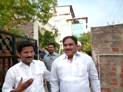 Hyderabad: TDP leader Dayakar Rao arrives to meet Leader of Opposition in Telangana Assembly K. Jana Reddy at his residence in Hyderabad, on March 19, 2015.