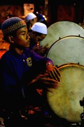 Jakarta: People perform on the eve of the Islamic New Year