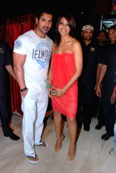 John and Bipasha attend Jootha Hi Sahi special screening at Cinemax.