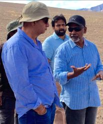 Mani Ratnam and Sham Kaushal in Ladakh