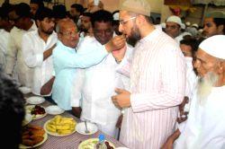 Asaduddain Owaisi during an iftar party