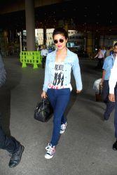 Mumbai: Priyanka, Ellie Avram return from Abu Dhabi Film Festival