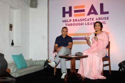 Mumbai : Actor Rahul Bose and actress Vidya Balan during the programme in Mumbai, on July 25, 2017.
