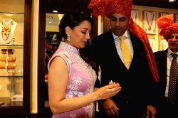 Panvel: Madhuri Dixit at the inauguration of a showroom