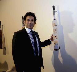 Mumbai: Sachin Tendulkar inaugurates `Deconstructed innings` - an art exhibition